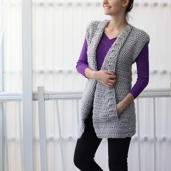 Crochet pattern Patron crochet Aria crochet vest PDF women | Etsy