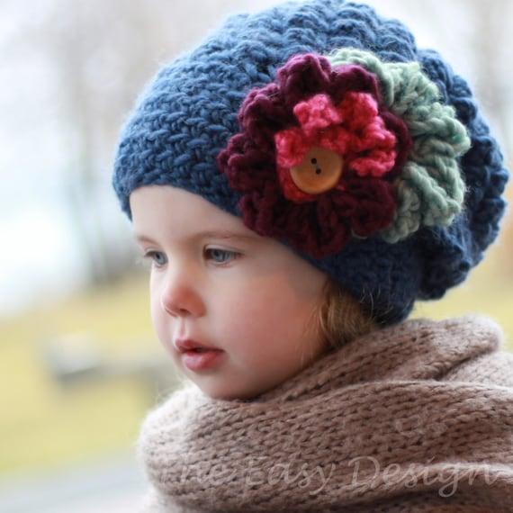 Crochet pattern Patron de crochet EMMA Slouchy Beanie Hat | Etsy