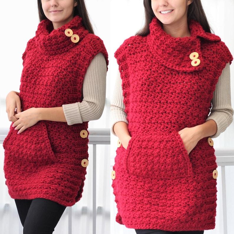 Crochet pattern Patron crochet LYANA Crochet Poncho pattern image 4