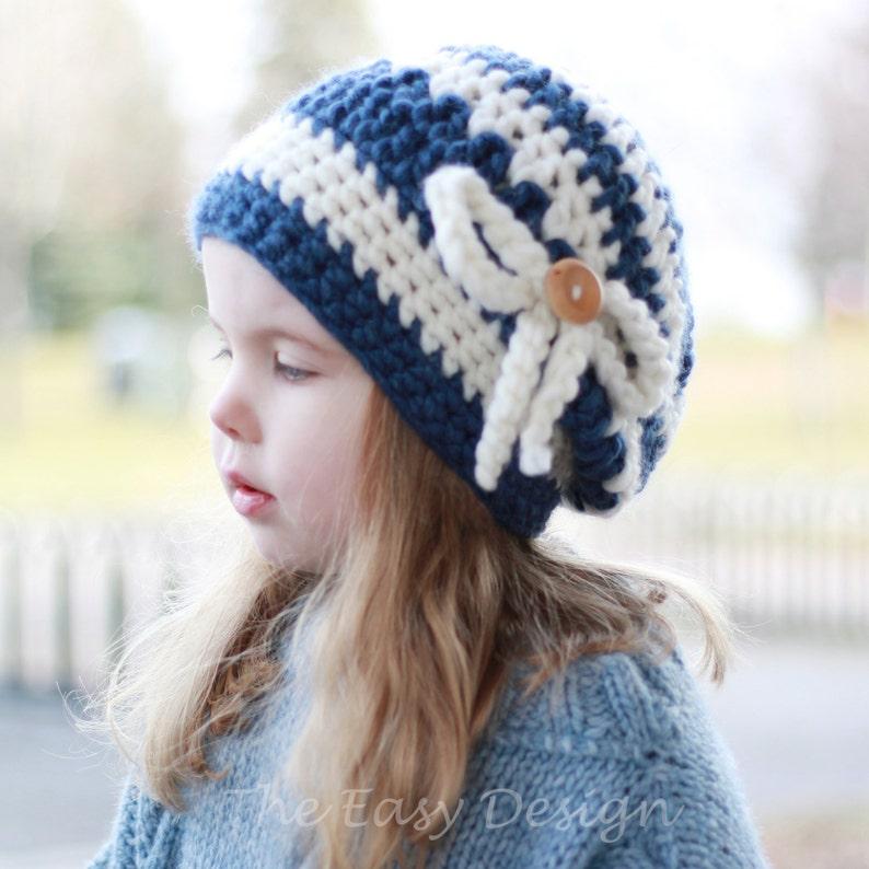 7f4a3d21185 Crochet pattern Patron de crochet Alice Slouchy Beanie Hat