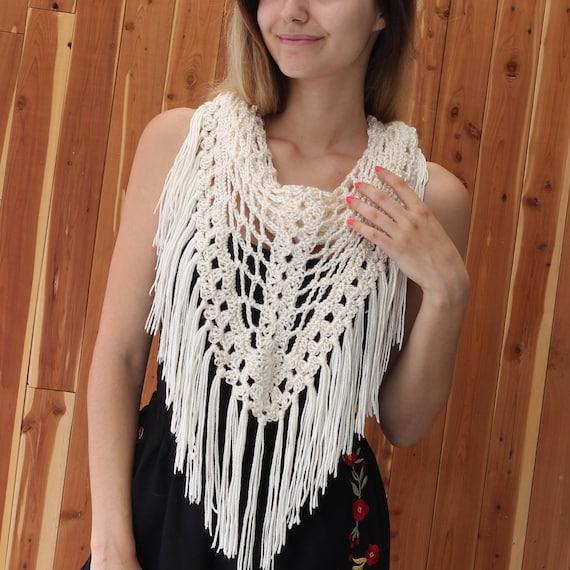Easy Crochet Scarf Pattern Beginner Boho Scarf Crochet Pdf Etsy
