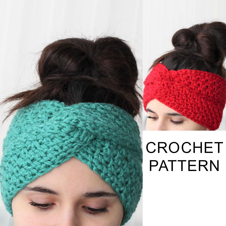 Crochet Pattern Pdf Patron De Crochet Aura Turban Ear Etsy