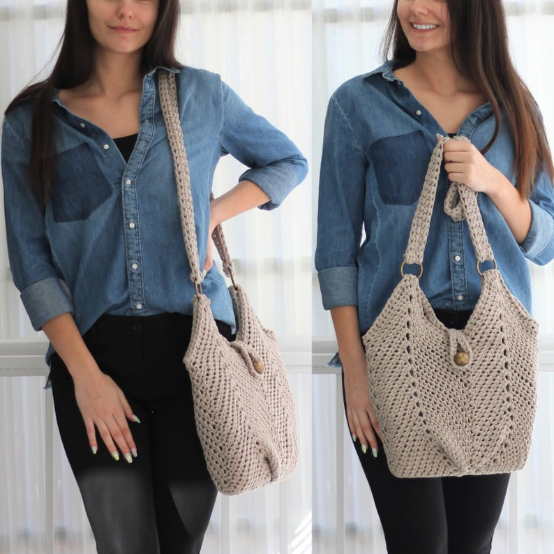 Crochet bag pattern-MONACO bag-Crochet handbag pattern-Crochet image 0