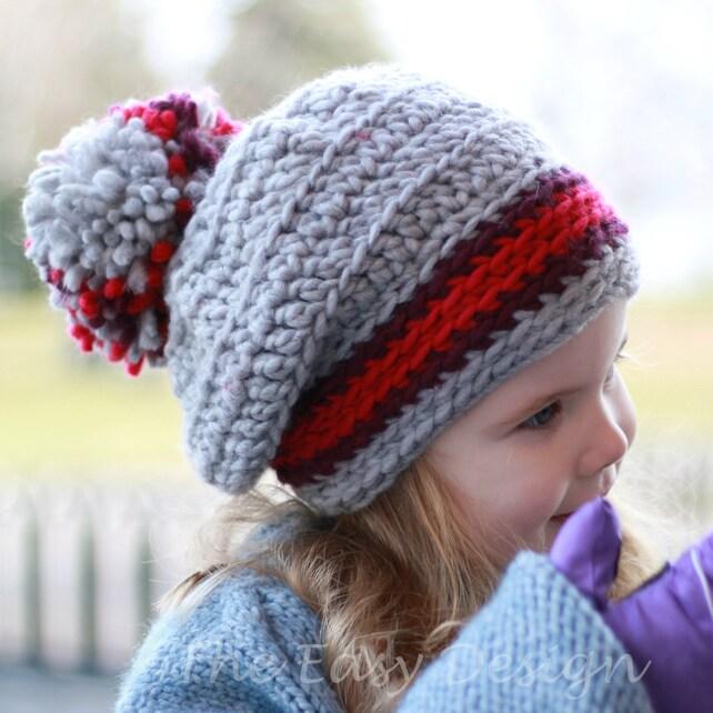Crochet pattern Patron de crochet Linda Slouchy Beanie Hat | Etsy