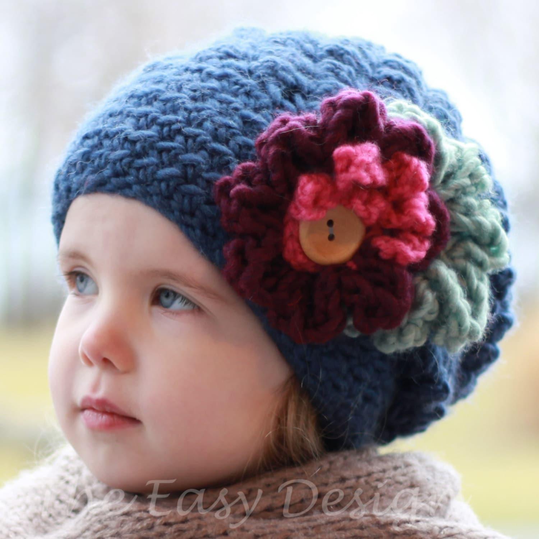 d9114efd7c5a Crochet pattern Patron de crochet Emma Slouchy Beanie Hat