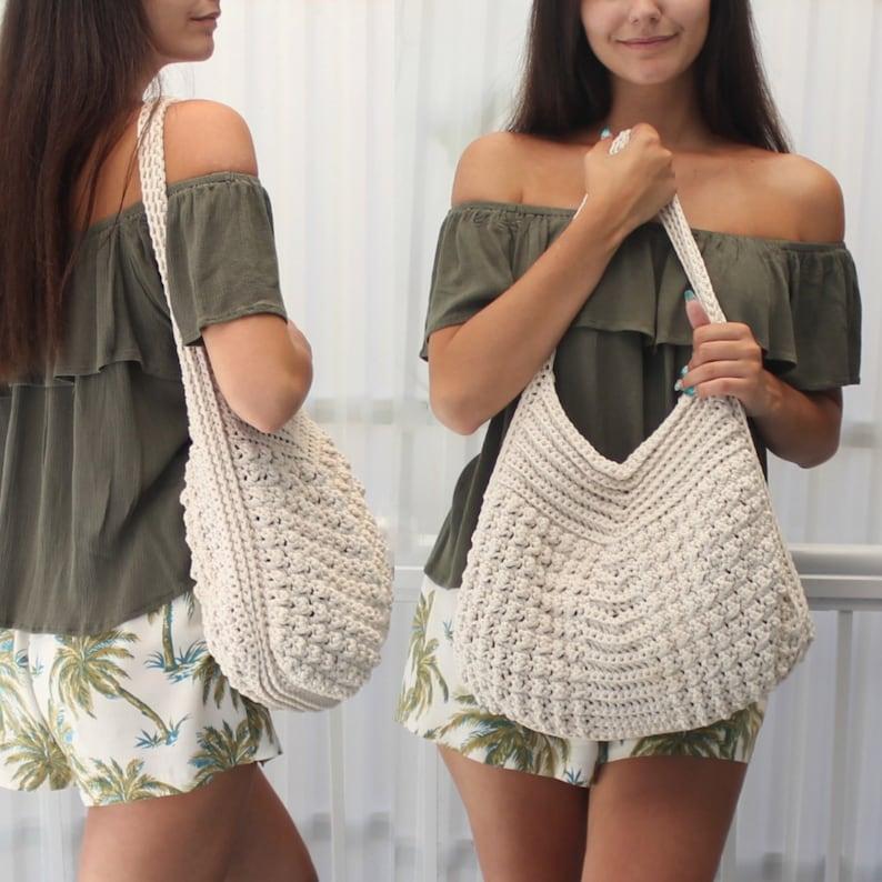 Crochet bag pattern-MACIE bag-Crochet handbag pattern-Crochet image 1