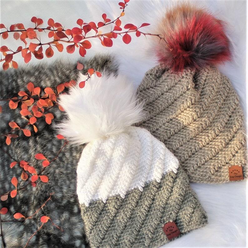 Easy Crochet hat pattern Crochet HatSKYLAR Beanie Hat image 0