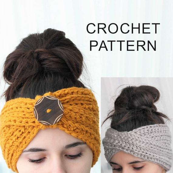 Crochet Pattern Pdf Patron De Crochet Tyra Turban Ear Etsy