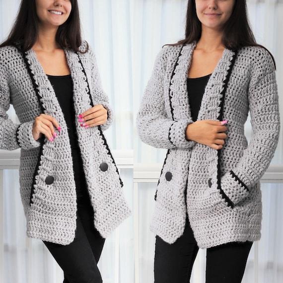 Crochet pattern Patron crochet-Mia Crochet cardigan PDF | Etsy