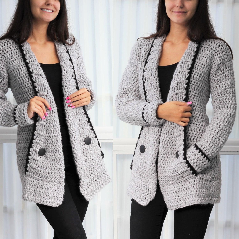 Crochet Pattern Patron Crochet Mia Crochet Cardigan Pdf Etsy