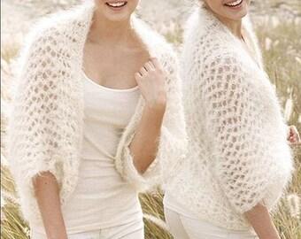 bolero. Wedding bride Bolero. Summer, feather light. gift. Hand knitting. Alpaca/wool/polyamide. On order.