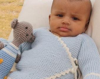 Baby suit set, 100% wool (merino wool)