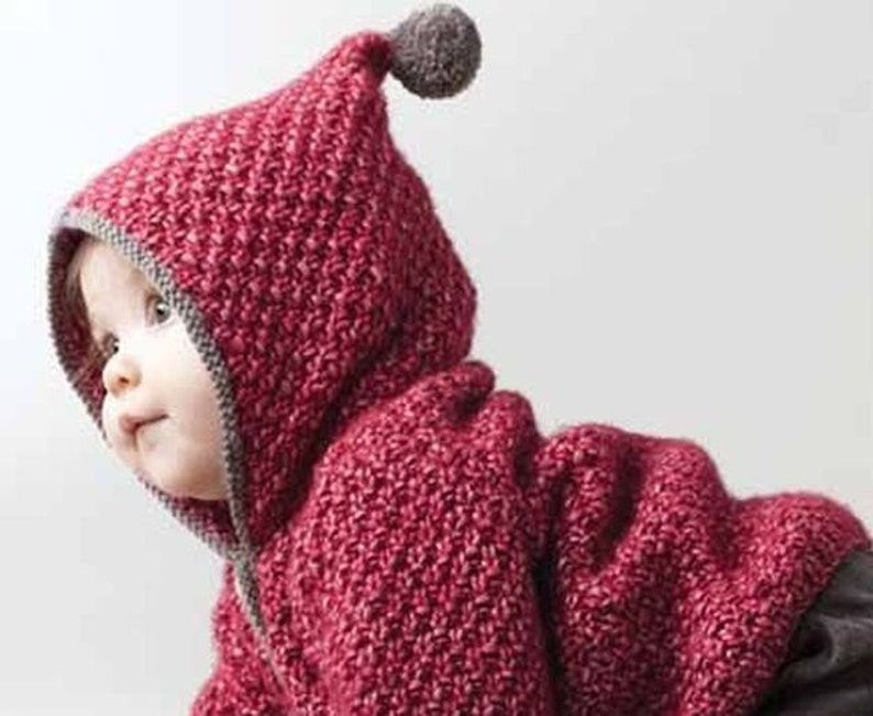 Baby knitted coat small jewel sweater jacket / cardigan. image 0