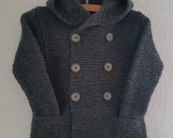 Baby - children's jacket/ cardigan/ cardigan. Pure wool. On order.