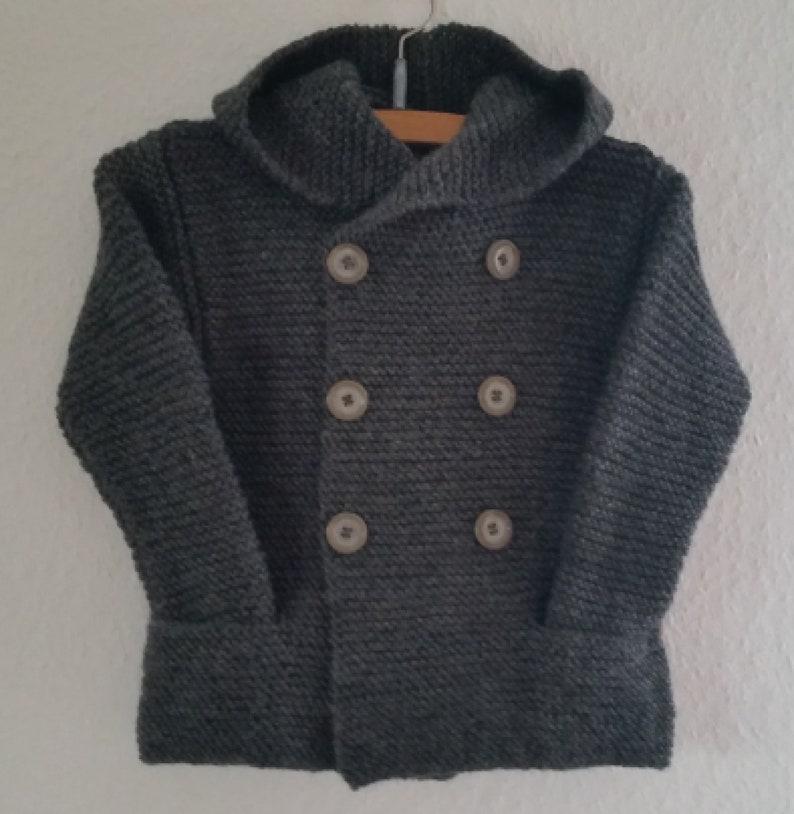 Baby  Kids Jacket/ Cardigan/ Cardigan. Pure wool. To order. image 0