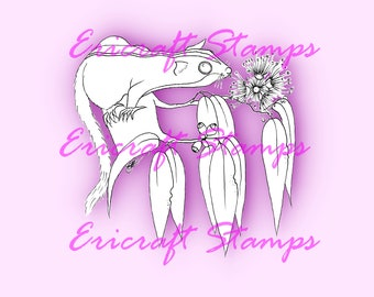 Digital Stamp- Seeking nectar - Jpeg and Png image for cards and crafts by Erica Bruton