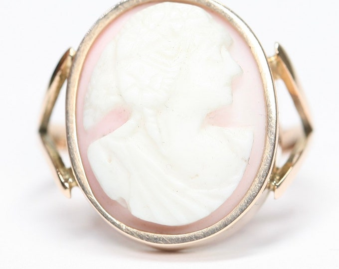 Superb rare Victorian 12ct gold Cameo ring - size S - 9