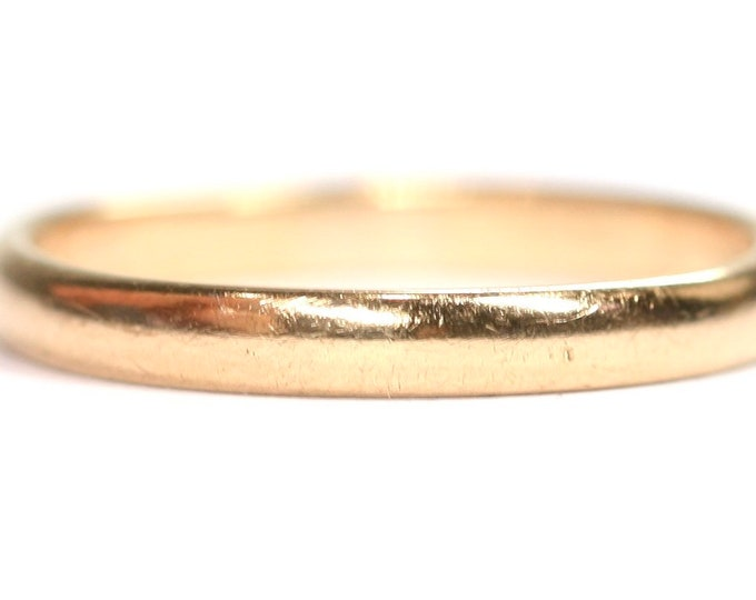 Antique 22ct wedding ring - hallmarked Birmingham 1936 - size P or US 7.5