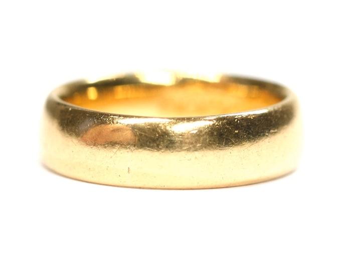 Stunning antique small fitting 22ct gold wedding ring - hallmarked Birmingham 1923 - size F / 3