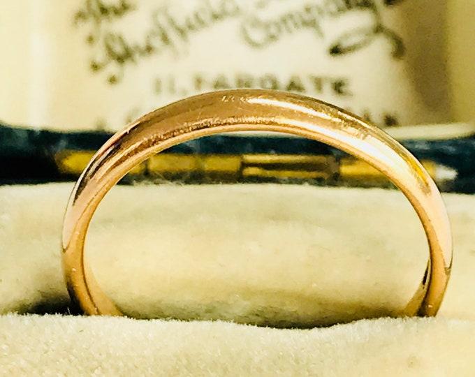 Vintage 22ct yellow gold wedding ring - hallmarked Birmingham 1951 - size N - 6 1/2