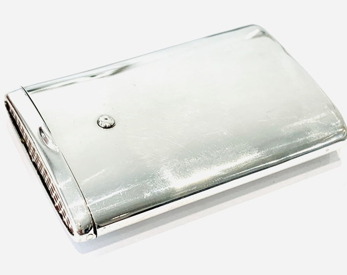 Superb rare antique sterling silver sliding Vesta case - hallmarked Glasgow 1930