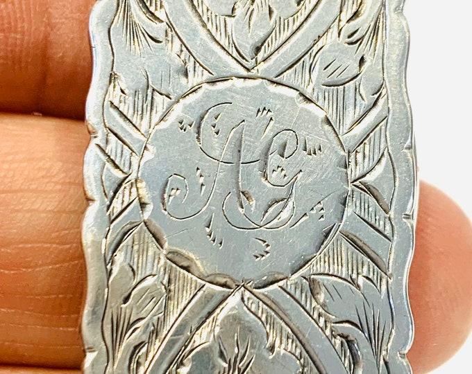 Superb Victorian silver Vinaigrette - hallmarked Birmingham 1873 - George Unite