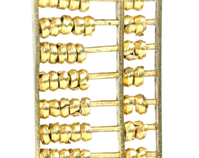Vintage 9ct yellow gold Abacus charm - stamped 9K
