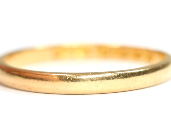 Vintage 22ct gold wedding ring - Birmingham 1953 - size O or US 7