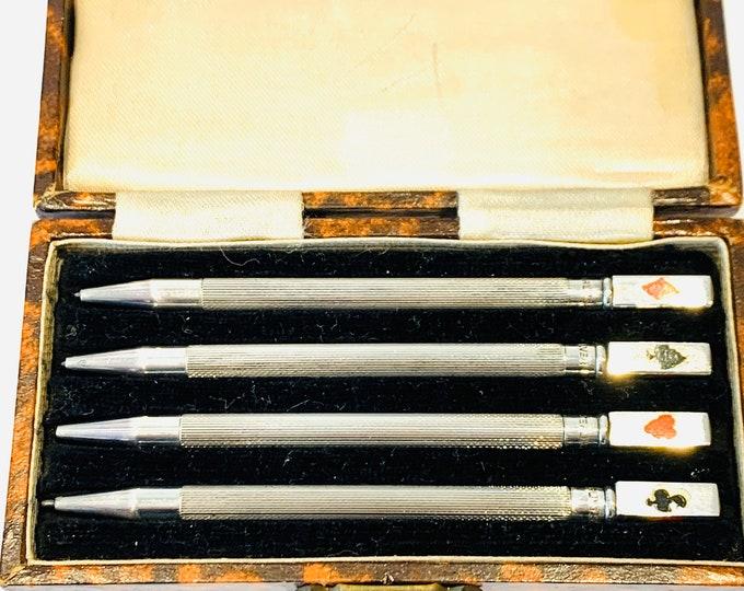 Vintage Sterling Silver cased Bridge pencils
