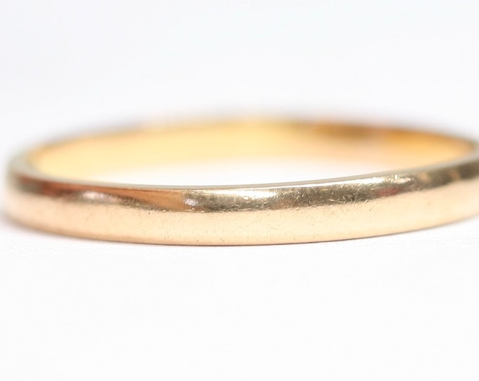 Vintage 22ct gold wedding ring - hallmarked London 1950 - size P or US 7 1/2