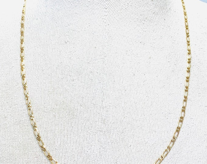 Vintage 9ct yellow gold 24 inch curb link chain - fully hallmarked - 8gms