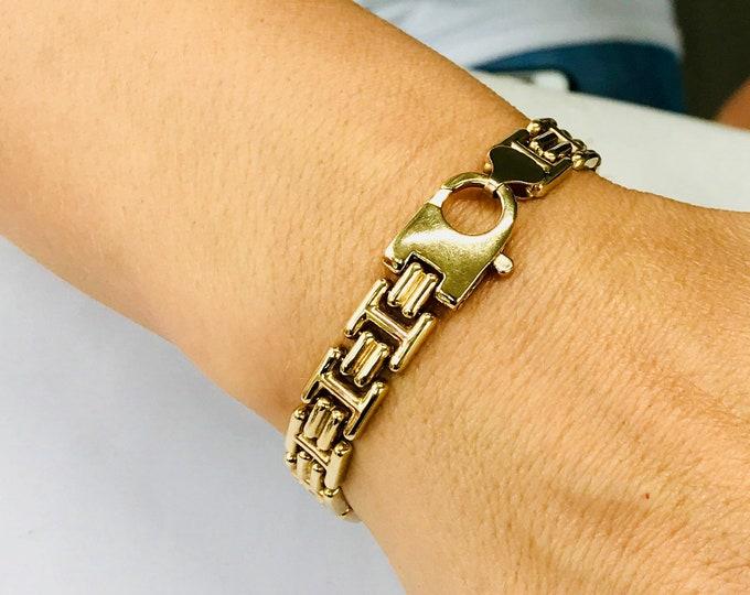 Stunning vintage 9ct gold 7 inch bracelet - fully hallmarked