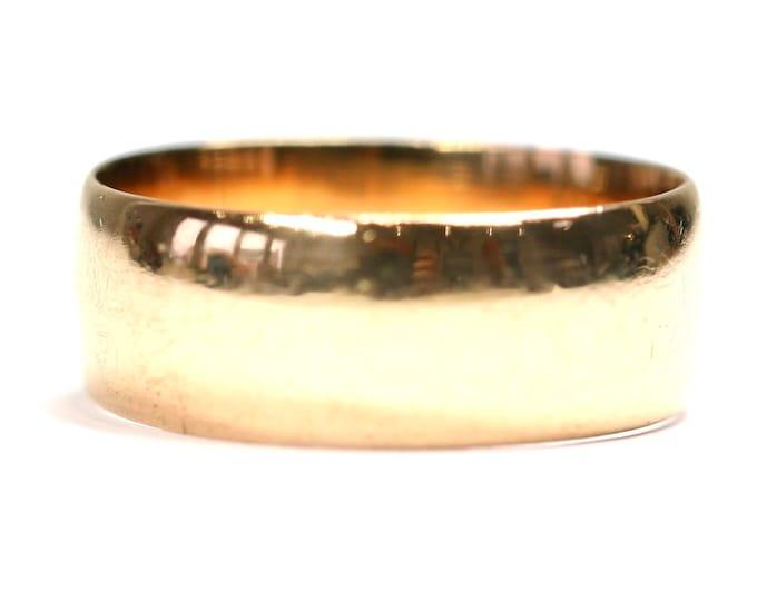 Superb antique Edwardian 22ct gold wedding ring - hallmarked Birmingham 1904 - size M or US 6 and 5.6gms