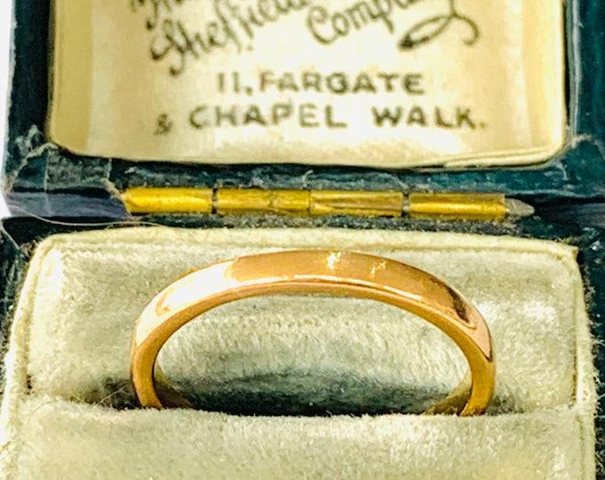 Vintage 22ct gold wedding ring - hallmarked Birmingham 1948 - size K - 5