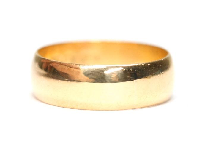 Superb Victorian 22ct gold wedding ring hallmarked Birmingham 1876 - size P or US 7 1/2