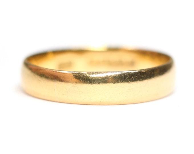 Antique 22ct gold wedding ring - hallmarked Birmingham 1921 - Size K or US 5