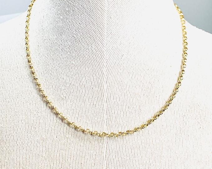 Vintage 9ct gold 17 1/2 inch Belcher chain - hallmarked London 1979 - 8.6gms
