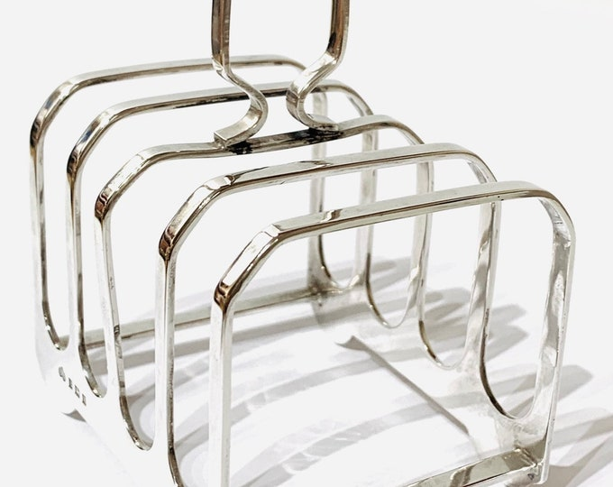 Superb vintage sterling silver Toast rack - hallmarked Birmingham 1959
