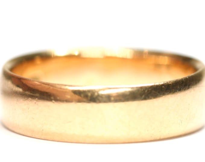 Stunning antique 22ct rose gold wedding ring - size O or US 7