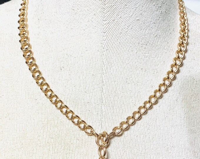 Stunning antique Edwardian 9ct rose gold 19 inch graduated Albert chain necklace - early 1900's - 41gms
