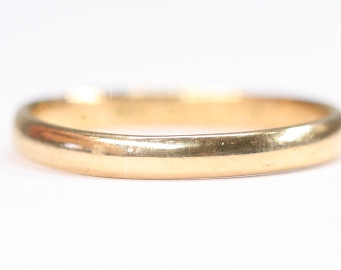 Antique 22ct gold wedding ring- hallmarked Birmingham 1928 - size P or US 7 1/2