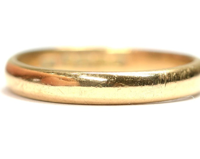 Antique 22ct yellow gold wedding ring - hallmarked Birmingham 1933 - size L or US 5.5
