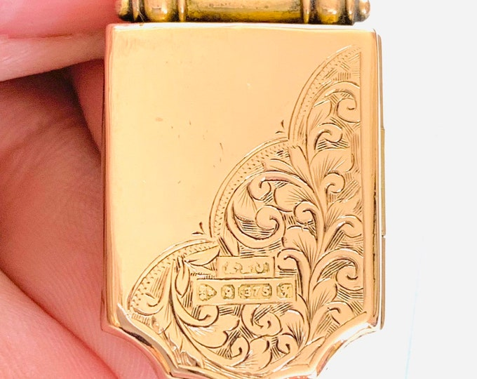 Superb antique 113 year old Edwardian solid 9ct rose gold - hallmarked Chester 1906 - 5gms