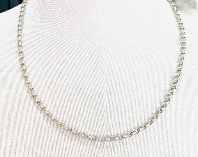 Vintage sterling silver 20 inch belcher chain - hallmarked London 1997