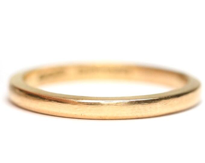 Vintage 22ct gold wedding ring - hallmarked Birmingham 1948 - size K or US 5 1/8