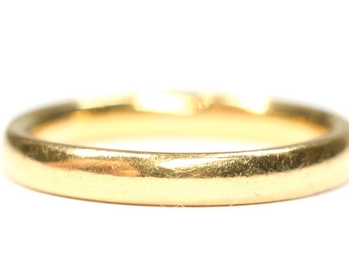 Superb vintage 22ct gold wedding ring - hallmarked London 1942 - size K 1/2 or US 5 3/8