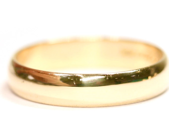 Superb vintage 9ct yellow gold Men's wedding ring - hallmarked London 1991 - size Z or US 12 1/2
