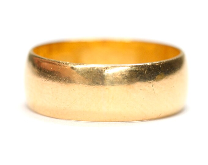 Superb Victorian 22ct gold wedding ring - hallmarked Sheffield 1887 - size J 1/2 or US 5