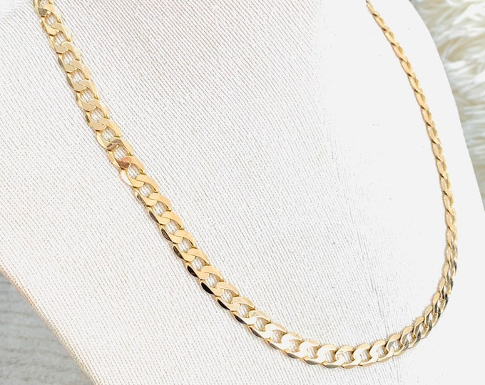 Superb heavy vintage 9ct yellow gold 21 inch curb chain - fully hallmarked - 31gms