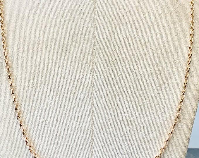 Superb vintage 9ct rose gold 29 inch chain - 15.8gms